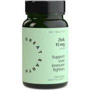 Great Earth Super Zinc 15 mg 100 tabletter