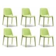 SCAB design SCAB Stoel Ginevra - Set Van 6 - Pistache Groen