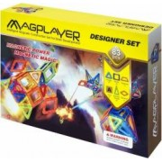 Set de constructie magnetic MAGPLAYER 83 piese varsta recomandata 3 - 10 ani Multicolor