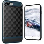 Louiwill KOBWA Para IPhone 7 Plus Funda, 2 En 1 Soft 3D Rhombus Drawing TPU + PC Funda Protectora Para Teléfono Trasera Shell, Anti-shock Antideslizante Anti-dirty Skin Completa Para Apple IPhone 7 Plus - Azul Marino