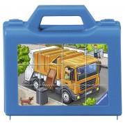 Puzzle Cuburi Vehicule, 12 Piese