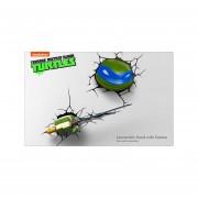 SET Leonardo 2 Lamparas Cabeza Y Arma Lampara 3d Tortugas Ninja Tmnt Turtles Nuevo-Multicolor