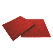 Červená gumová dopadová dlaždice (V20/R00) - délka 50 cm, šířka 50 cm a výška 2 cm
