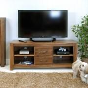 Baumhaus Mayan Walnut Mayan Walnut Widescreen Television Cabinet Fully Assembled