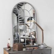 Maisons du monde Espejo de metal Al. 110 cm ARCADE