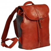 vidaXL Backpack Real Leather Tan