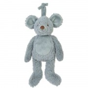 Happy Horses Peluche musicale Souris Grise Mel 26 cm Happy Horse - Doudou musical