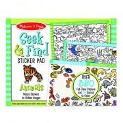 Melissa & Doug Animal Seek And Find Sticker Pad