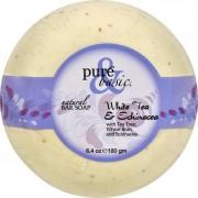 Pure and Basic Bar Soap - White Tea Echinacea - Case of 6 - 6.4 oz
