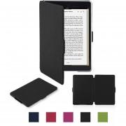 EB Para Kindle Paperwhite Funda De Cuero Soporte De Soporte De Cuero Funda De Cuero-negro
