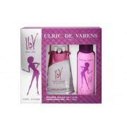 Ulric De Varens Confezione regalo - eau de parfum pour femme chic-issime 75 ml vapo + deodorante