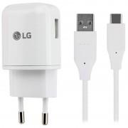 Carregador Rápido LG MCS-H05ER com Cabo USB-C - Branco