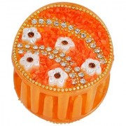 Maayra Women Girls Hair Clutcher Claw Beads and Thread in Orange for Partywear Pack of 1