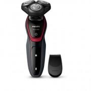 Aparat de barbierit Philips Shaver S5130/06, Fara fir, Dry, 40 minute, Li-ion, Gri/Rosu
