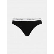 Calvin Kalhotky Calvin Klein Bikini černé s bílou gumou