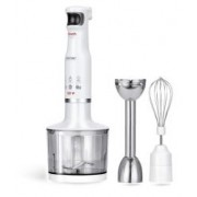 Blender de mana MPM, MBL-28, Putere 500W, Pasator Inox, Tel, Capacitate 500ml, Functie Smooth Touch