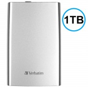 Disco Rígido Externo Verbatim Store 'n' Go USB 3.0 - Prateado - 1TB