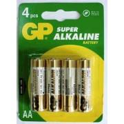 Baterii alkaline R6, AA, 1,5V ,4buc/set - GP