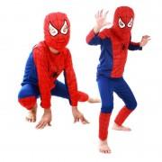 Costum pentru copii, model Spiderman, marimea S pentru varsta de 3-4 ani
