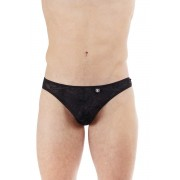 L'Homme Invisible Feuilles D'Amour Y String Thong Underwear Black MY93-AMO-001