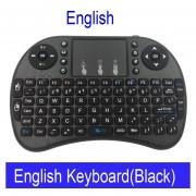Teclado inalámbrico ruso Mini i8 teclado Inglés hebreo letras Air Mouse táctil Control remoto para Android TV Box Notebook Tablet Pc(#English Negro Color)