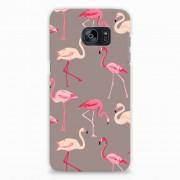 B2Ctelecom Samsung Galaxy S7 Edge Rubber Case Flamingo