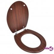 vidaXL WC sjedalo MDF tvrdo + poklopac drveni, jednostavni dizajn