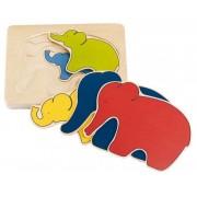 Puzzle lemn multistrat - Elefant