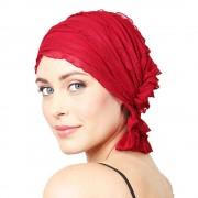 Chemo Beanies® - Headwear Covers for Hair Loss Nancy (Red Ruffle)