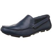 Steve Madden Men's Namath Navy Leather Loafers and Moccasins - 11.5 UK/India (45 EU) (12 US)