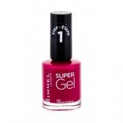 Rimmel London Super Gel STEP1 lakier do paznokci 12 ml dla kobiet 025 Urban Purple