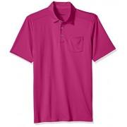Skechers, Camisa de golf para Hombre, Sawgrass Pocket Polo MTO3, Festival fucsia, XXG