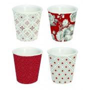 R2S.176TCRE Espresso porcelán pohár szett 4db-os 80ml, dobozban, Trend & Colours Red