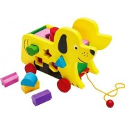Toys of Wood Oxford TOWO Wooden Pull Along Dog with Shape Sorter - toy-wooden for toddlers