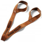 Better Bodies 1,5 inch Leather Straps One size Brown leather