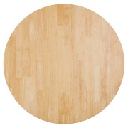 Tafelblad 'MASSIVO' rond van massief hout -
