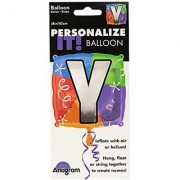Anagram International Letter Y Quad Package Balloon 18 NA