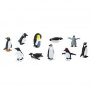 Geen Plastic pinguins figuurtjes in koker