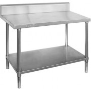 Stainless Steel Bench 1800 W x 600 D with 150mm Splashback