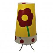 Max FC048-B14 Stolní lampa dětská žlutá - barevné kytičky