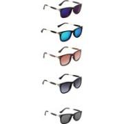 Ultra Digits Wayfarer Sunglasses(Violet, Blue, Brown, Grey, Black)