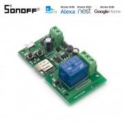 Sonoff - releu smart 1 canal inching. self lockling cu control Wi-Fi 5V-12V