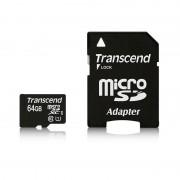 Micro SD Card, 64GB, Transcend SDXC, UHS-I Premium, 1xAdapter, Class10 (TS64GUSDU1)