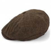 Major Wear Bruine platte nieuwsjongenspet