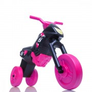 Tricicleta fara pedale Enduro Maxi negru-roz