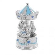 giostrina musicale in argento da bambino con carillon