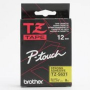 Brother TZS631 - Brother P-Touch Tape svart på gul 12mm Strong Adhesive