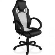 Otočná kancelárska stolička biela GS Series