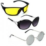 Vitoria Wayfarer, Wrap-around, Round Sunglasses(Multicolor)
