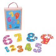 Bigjigs Toys 1-9 Number Puzzles - BJ507